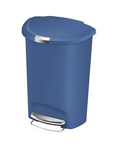simplehuman-50-litre-semi-round-plastic-bin-blue
