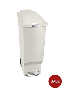 simplehuman-40-litre-slim-plastic-bin-stone