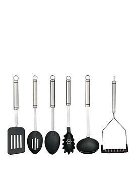 master-class-professional-stainless-steel-kitchen-utensil-set-6-piece