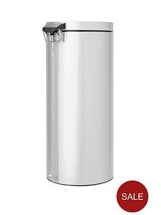 brabantia-classic-30-litre-pedal-bin-metallic-grey