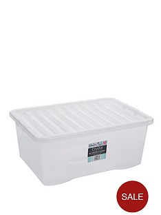 wham-45-litre-clear-plastic-storage-boxes-set-of-2