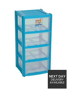 wham-4-drawer-tower-storage-unit-blue
