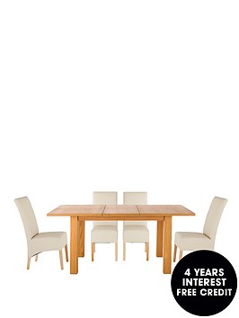 primo-120-160-cm-extending-dining-table-4-eternity-chairs-buy-and-save