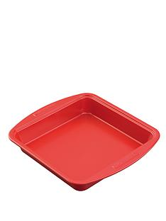 silverstone-9-inch-square-cake-tin-red