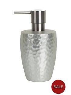 spirella-darwin-hammered-soap-dispenser-silver