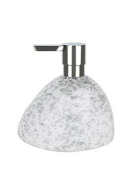 spirella-etna-glitter-white-soap-dispenser