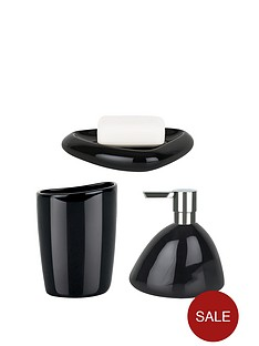 spirella-etna-set-of-3-shiny-black-bathroom-accessories