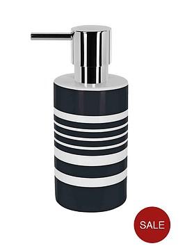 spirella-tubes-stripes-soap-dispenser-black