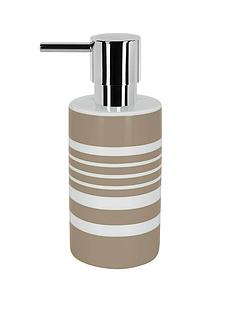 spirella-tubes-stripes-soap-dispenser-taupe