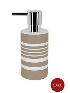 spirella-tubes-stripes-soap-dispenser-taupe