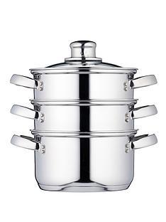 kitchen-craft-3-tier-16-cm-steamer-stainless-steel
