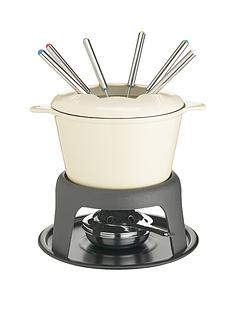 master-class-cast-iron-enamelled-fondue-set-cream
