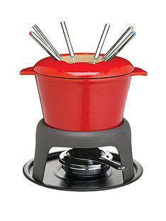 master-class-cast-iron-enamelled-fondue-set-red