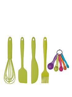 colourworks-5-piece-silicone-baking-and-preparing-set-green