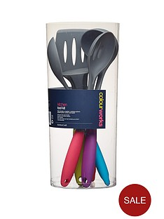 colourworks-5-piece-soft-touch-kitchen-tool-kit
