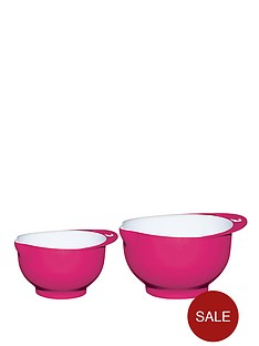 colourworks-two-tone-melamine-mixing-bowl-set-pink