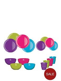 colourworks-16-piece-assorted-melamine-dinner-set