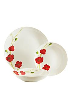 viners-poppy-12-piece-dinner-set-redwhite