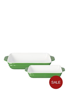 mason-cash-set-of-2-rectangular-roasters-green