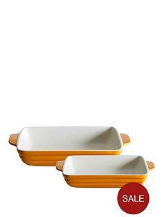 mason-cash-set-of-2-rectangular-roasters-orange