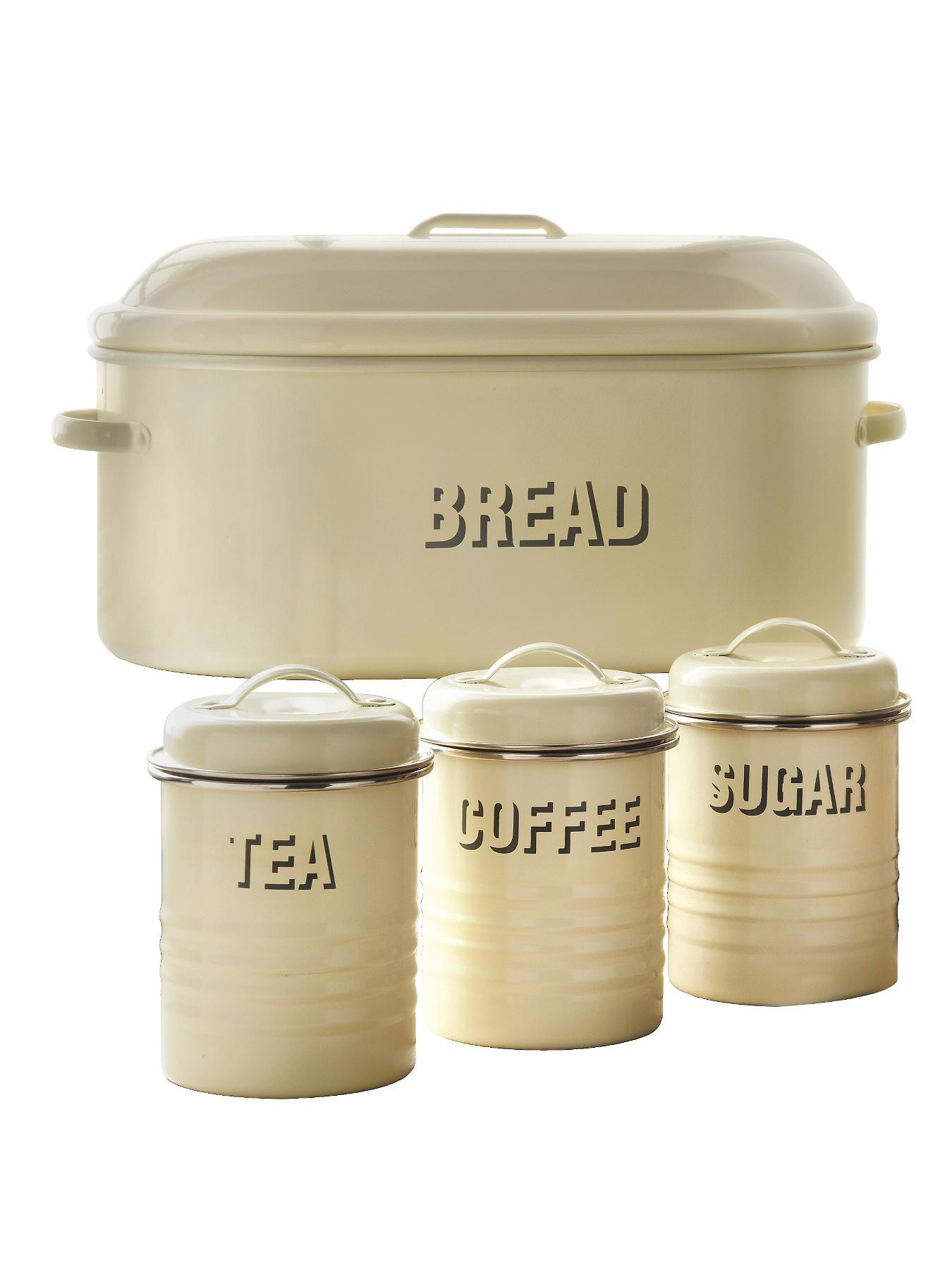 cream kitchen storage set tea coffee sugar canister shop for cheap cookware 6284