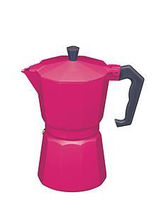 kitchen-craft-6-cup-espresso-maker-pink