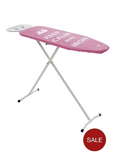 sabichi-essential-ironing-board-with-spare-cover-pink