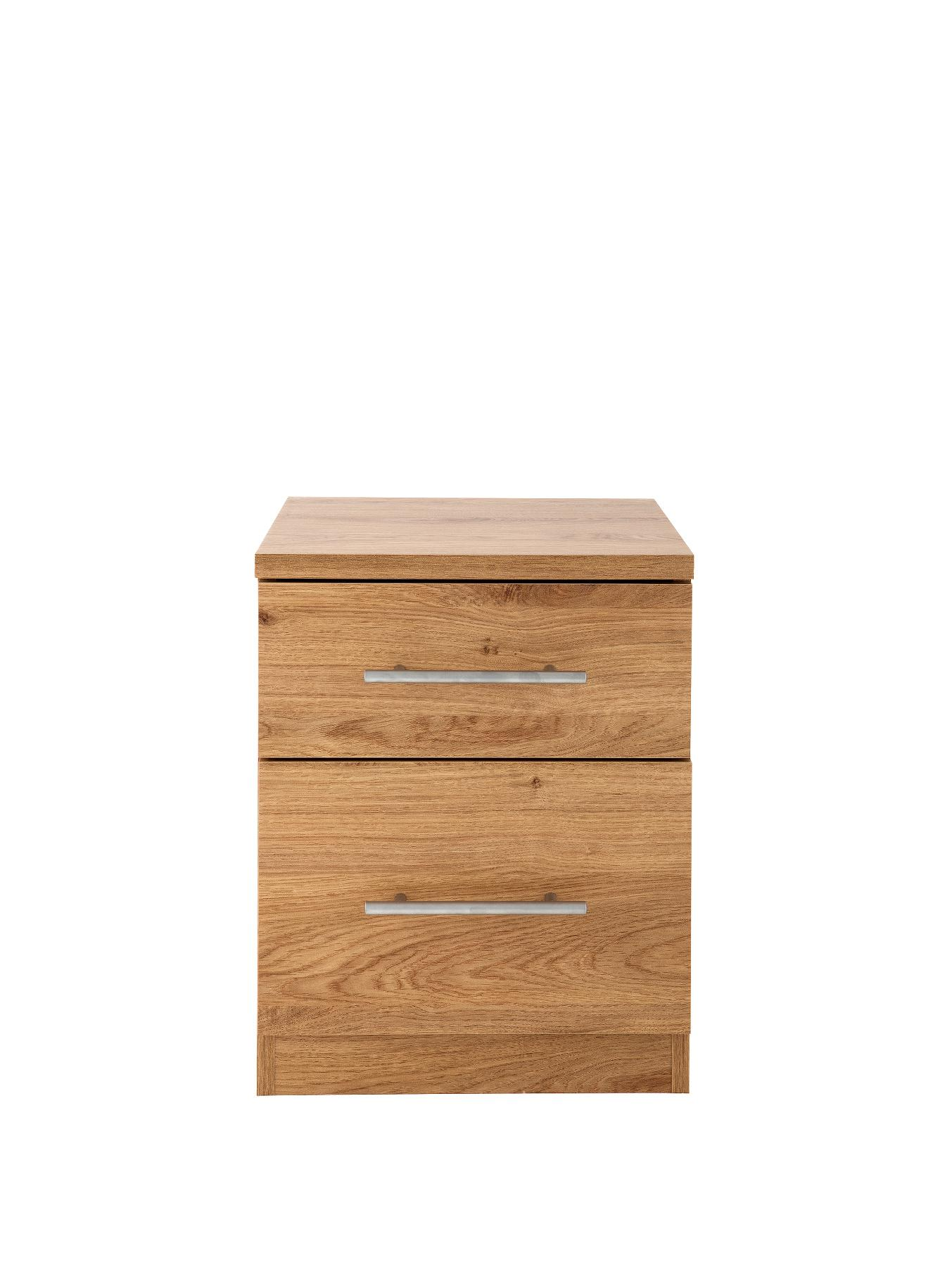 Cologne 2-Drawer Bedside Cabinet (Oak)