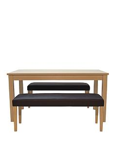 primo-dining-table-150cm-and-2-faux-leather-benches