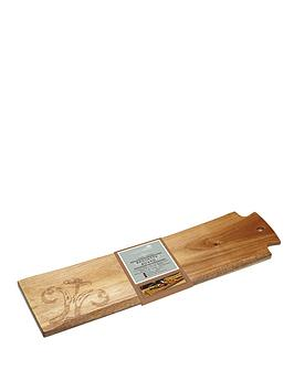 kitchen-craft-appetiser-acacia-wood-serving-plankbaguette-board