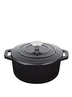 master-class-cast-iron-black-25-litre-round-casserole-dish-with-lid
