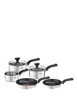 Tefal Comfort Max 5Piece Pan Set  Stainless Steel