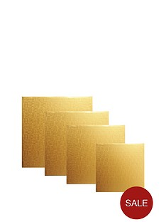 mason-cash-4-piece-square-cake-board-set-gold