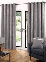 Luxury Soft Velour Eyelet Curtains