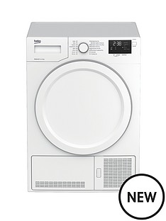 beko-dhy7340w-8kg-condenser-dryer-with-heat-pump-white