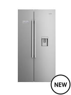 beko-asd241s-usa-style-fridge-freezer-with-stored-water-silver