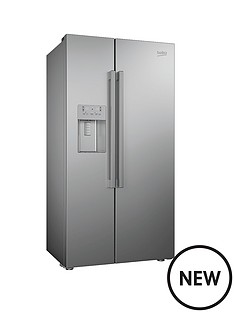 beko-asn541s-usa-style-fridge-freezer-with-stored-water-and-ice-silver