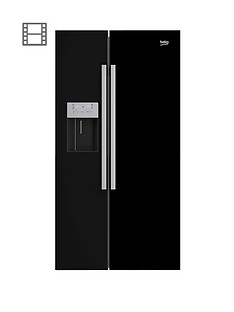 beko-asn541b-usa-style-fridge-freezer-with-non-plumbed-water-and-ice-black