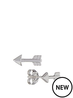 love-silver-sterling-silver-rhodium-plated-arrow-stud-earrings