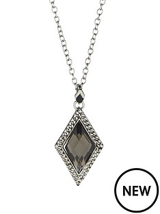 fiorelli-rhodium-and-crystal-diamond-shape-pendant