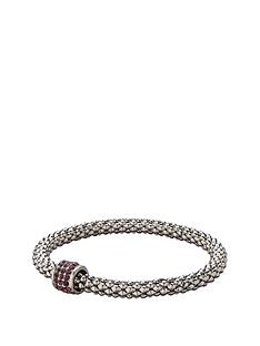 fiorelli-rhodium-purple-crystal-bead-stretch-bracelet