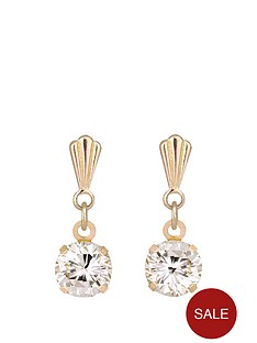 andralok-9-carat-yellow-gold-5mm-round-cubic-zirconia-drop-earrings