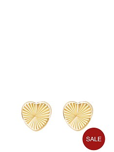 andralok-andralok-9-carat-yellow-gold-diamond-cut-heart-earrings