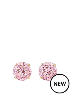 andralok-9-carat-yellow-gold-5mm-round-cubic-zirconia-studs