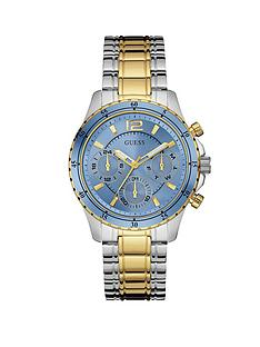 guess-latitude-blue-dial-silver-and-gold-stainless-steel-bracelet-ladies-watch