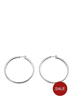 guess-silver-tone-rock-my-world-hoop-earrings