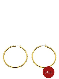 guess-gold-tone-rock-my-world-hoop-earrings