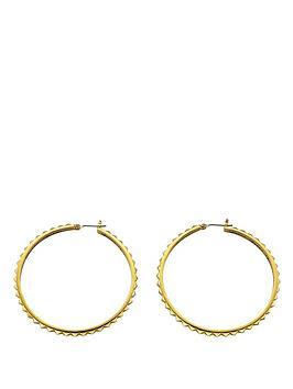 guess-gold-tone-rock-my-world-hoop-earrings