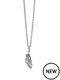 guess-rhodium-plated-city-of-angels-feather-crystal-set-necklace