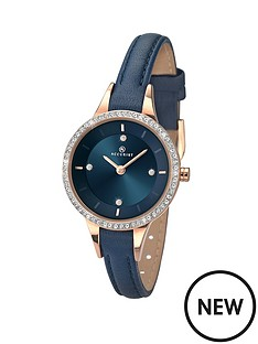 accurist-dark-blue-dial-with-crystals-blue-leather-strap-ladies-watch